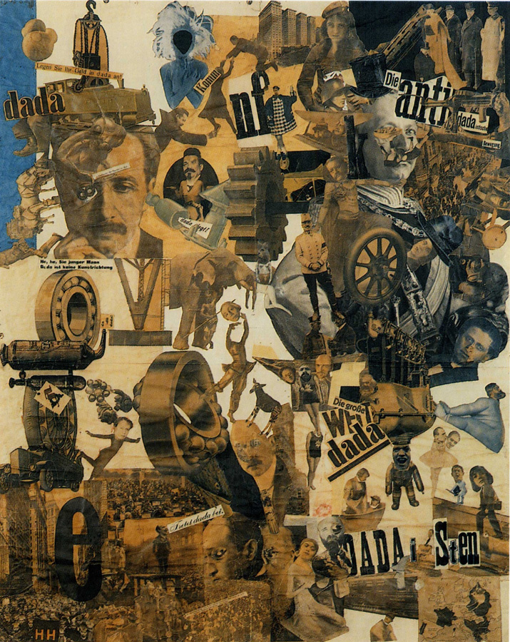 Hannah Höch, Cut with the Kitchen Knife through the Beer-Belly of the Weimar Republic, 1919.