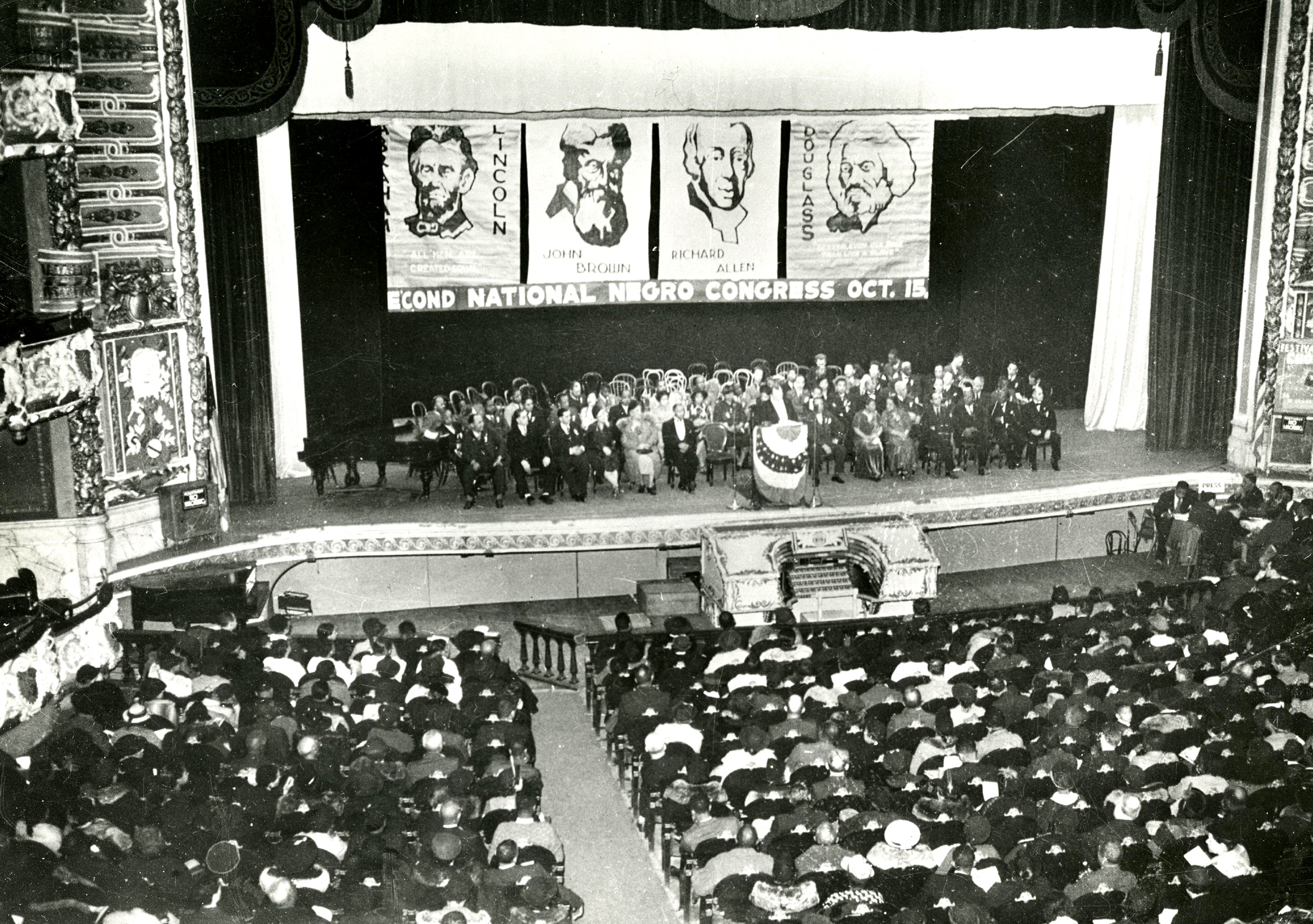 Second meeting of the Negro National Congress, Philadelphia 1937.