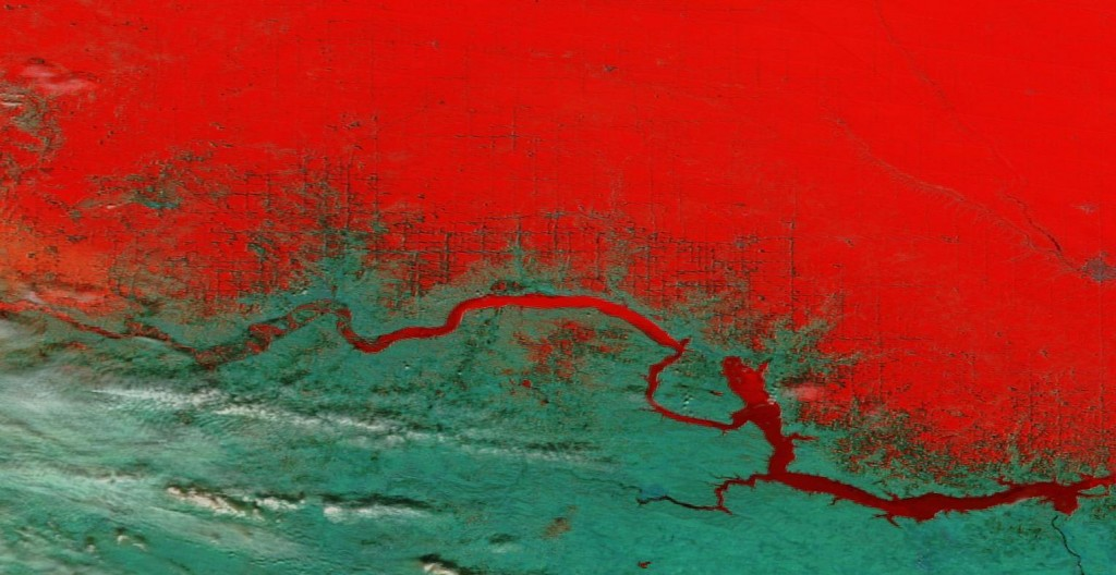 LE MONDE BRÛLE-T-IL ? CAPITALISME et CHANGEMENT CLIMATIQUE Bakken-false-color-1024x528-Part-of-the-Bakken-oil-region-is-seen-in-this-false-color-image-from-NASA%E2%80%99s-Terra-satellite-captured-on-April-2.-1